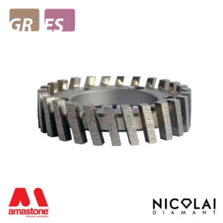 Segmented stubbing wheel - Granite, Engineered stone - Nicolai