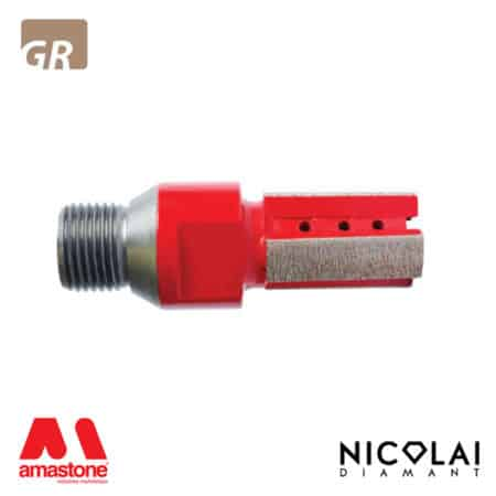 XXX Red finger bit - Granite - Nicolai