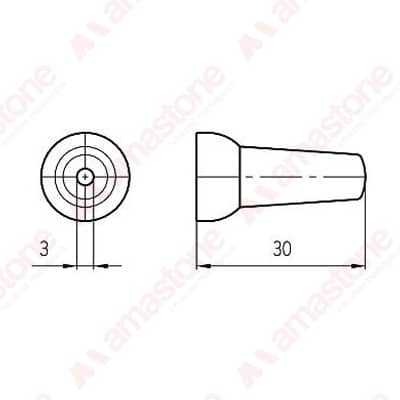 "1/4"" Round Nozzle Diameter 3 mm"