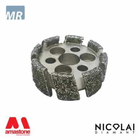 Electroplated stubbing wheel small diameter – Marble - Nicolai