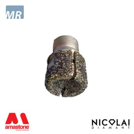 Electroplated stubbing wheels 1/2 Gas – Marble - Nicolai