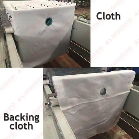 Filter press cloths and backing cloths