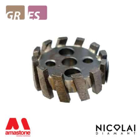 Segmented stubbing wheel small diameter – Granite, Engineered stone - Nicolai