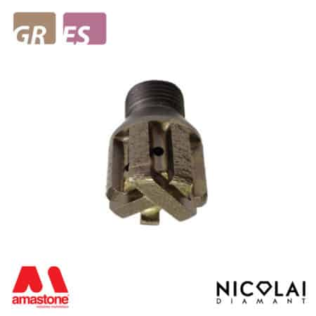 Segmented stubbing wheels 1/2 Gas - Granite, Engineered stone - Nicolai
