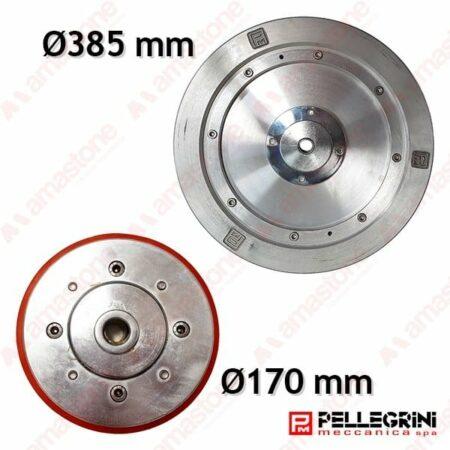 Aluminium guide wheel Ø 170 385 mm - Pellegrini Wire Saw