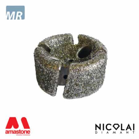 Concave electroplated stubbing wheels - Marble - Nicolai