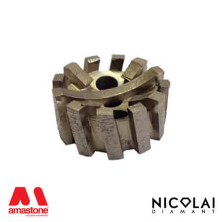 Concave segmented stubbing wheels - Granite, Engineered stone - Nicolai