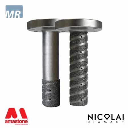 Electroplated finger bit - Flange connection – Marble - Nicolai