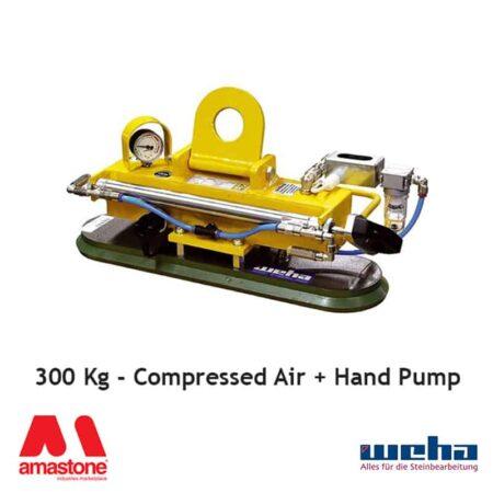 Vacuum lifter UNI PAD Compressed Air / Hand Pump – 300 Kg – Weha
