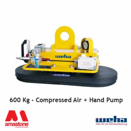 Vacuum lifter UNI PAD Compressed Air / Hand Pump – 600 Kg – Weha