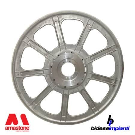 Bidese – Aluminium main flywheel 1000 mm for wire saw – complete with rubber liner