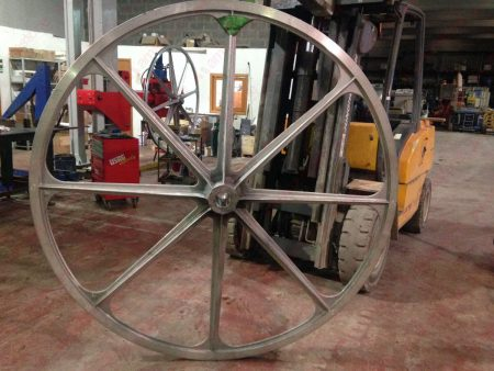 Pellegrini - Aluminium main flywheel 2000 mm for wire saw – Complete with rubber liner (1)