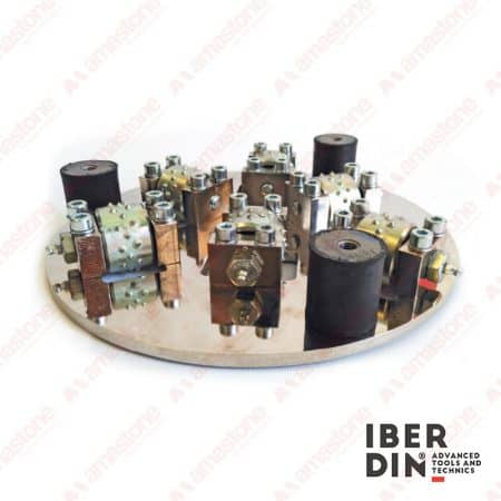 Iberdin - Bush-hammer plate - Rollplate Madrid