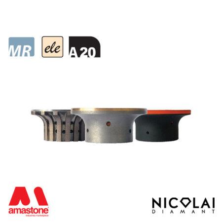 Electroplated Profile Wheels 60 - Shape A20 - Nicolai
