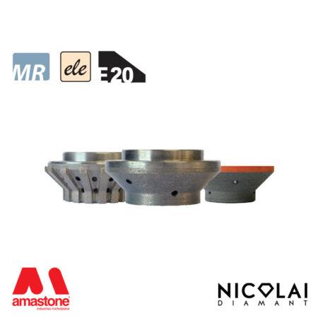 Electroplated Profile Wheels 60 - Shape E20 - Nicolai