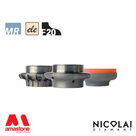 Electroplated Profile Wheels 60 - Shape F20 - Nicolai