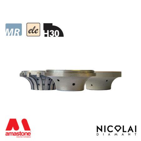 Electroplated Profile Wheels 60 - Shape H30 - Nicolai