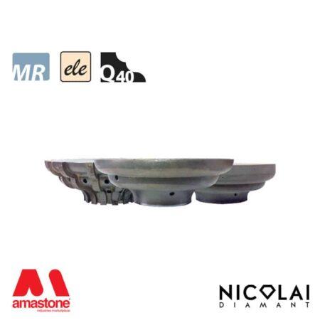 Electroplated Profile Wheels 60 - Shape Q40 - Nicolai
