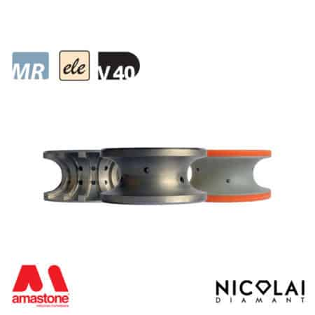 Electroplated Profile Wheels 60 - Shape V40 - Nicolai