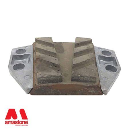Aluminium holder for Frankfurt abrasives