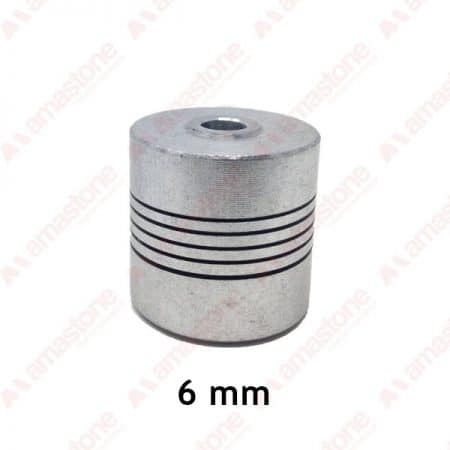 Aluminum flexible coupling - 6 mm