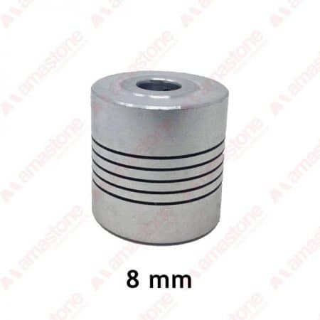Aluminum flexible coupling - 8 mm