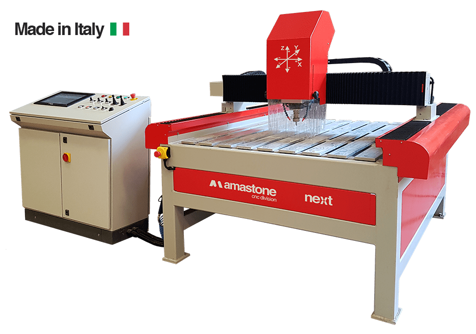 3 Axes Cnc Router Amastone Next Made In Italy