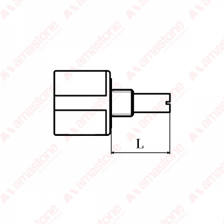 "Bourns – Multiturn potentiometer 10KΩ - Length of the axis ""L"""