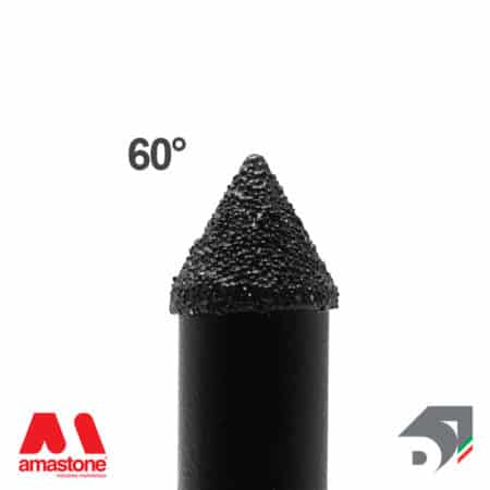 Electroplated carving tool 60° for marble - Diamar