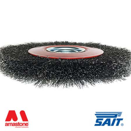 Metallic circular brush for removal of deburring SM-CR – Sait