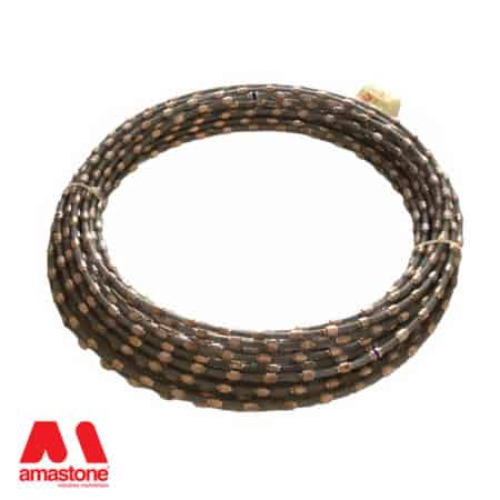 Diamond wire for single wire saw machines
