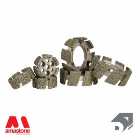 Electroplated stubbing wheel – Marble - Diamar