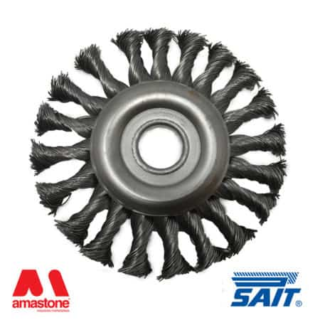 Metallic circular brush for removal rust SM-CR - Sait