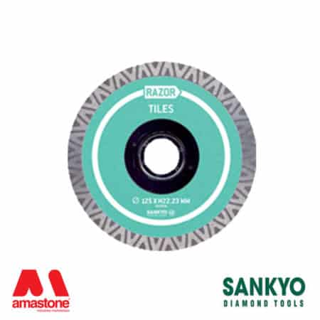 Cutting blade with turbo crown for engineered stone – Sankyo Razor