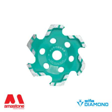 "Diamond cup wheel for marble ""Star"" – Sifa"