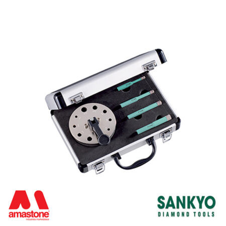 kit 4 pieces diamond core drill bits st-dc (hex fitting) for angle grinder and drill – sankyo