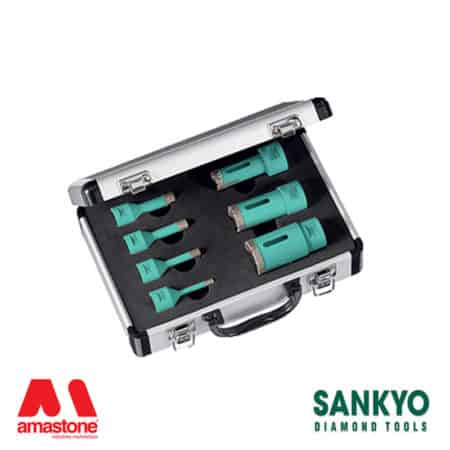 Kit diamond core drill bits ST-DA (fitting M14) for angle grinder and drill – Sankyo