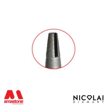 Continuos Conical router bit for Granite – Nicolai
