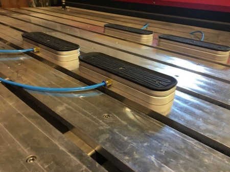 Cnc Suction Cups Installed On The CNC router Amastone Next