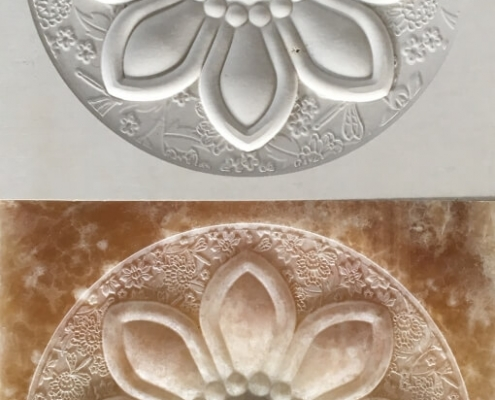 Cnc Stone Router Flower Relief Marble And Onix