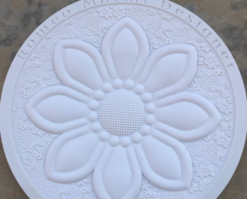 Flower Engraving In Marble