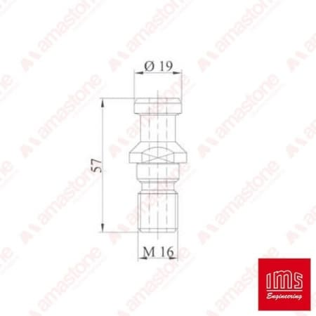 Pull stud for tool holder cone BT 40 Helios - IMS