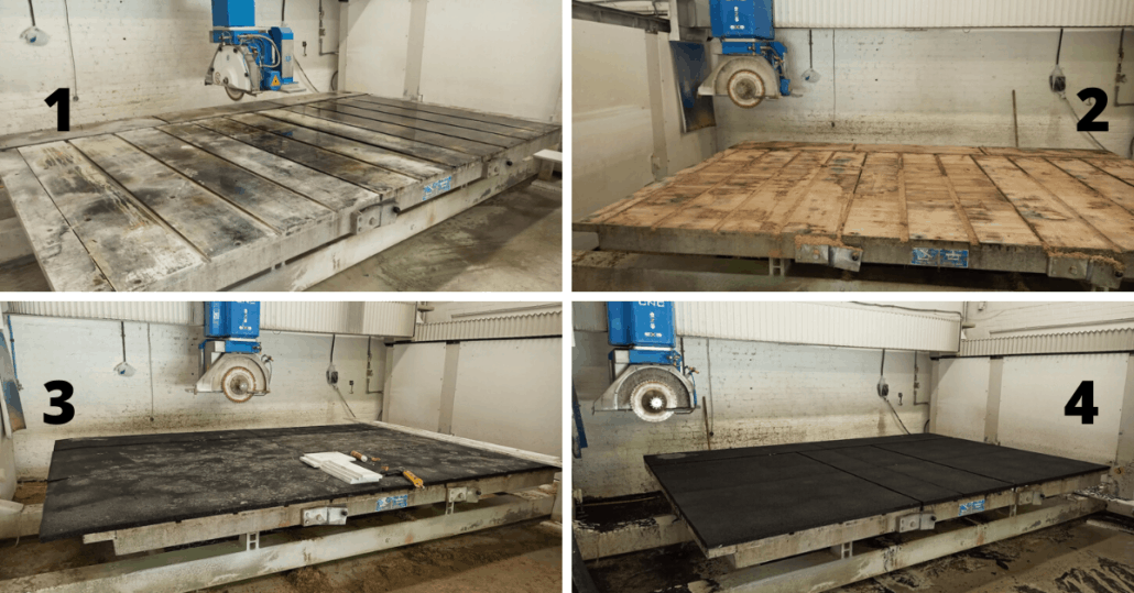 Rubber Matting Saw Table