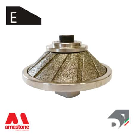 "Rotating toucher wheels 45° Profile ""E"" for marble - Diamar"