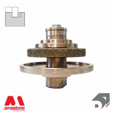 Rotating toucher wheels for drips – For marble - Diamar