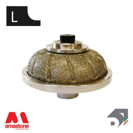 "Rotating toucher wheels for marble - Profile ""L"" – Diamar"