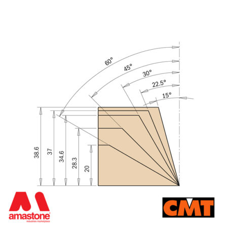 Router Bit with Adjustable Chamfering – CMT
