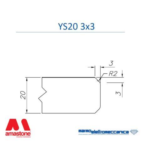 Line Master profile wheels YS20 3×3 – MEM