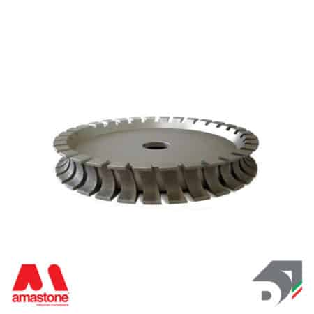 electroplated diamond profiling wheel for bridge saw – v profile – bullnose concave
