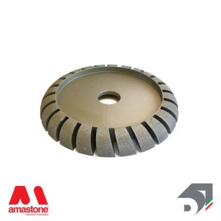 electroplated diamond wheel for bridge saw – profile L – half bullnose convex